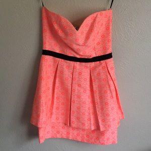 Dolce Vita Strapless Hot Pink Dress - Size XS